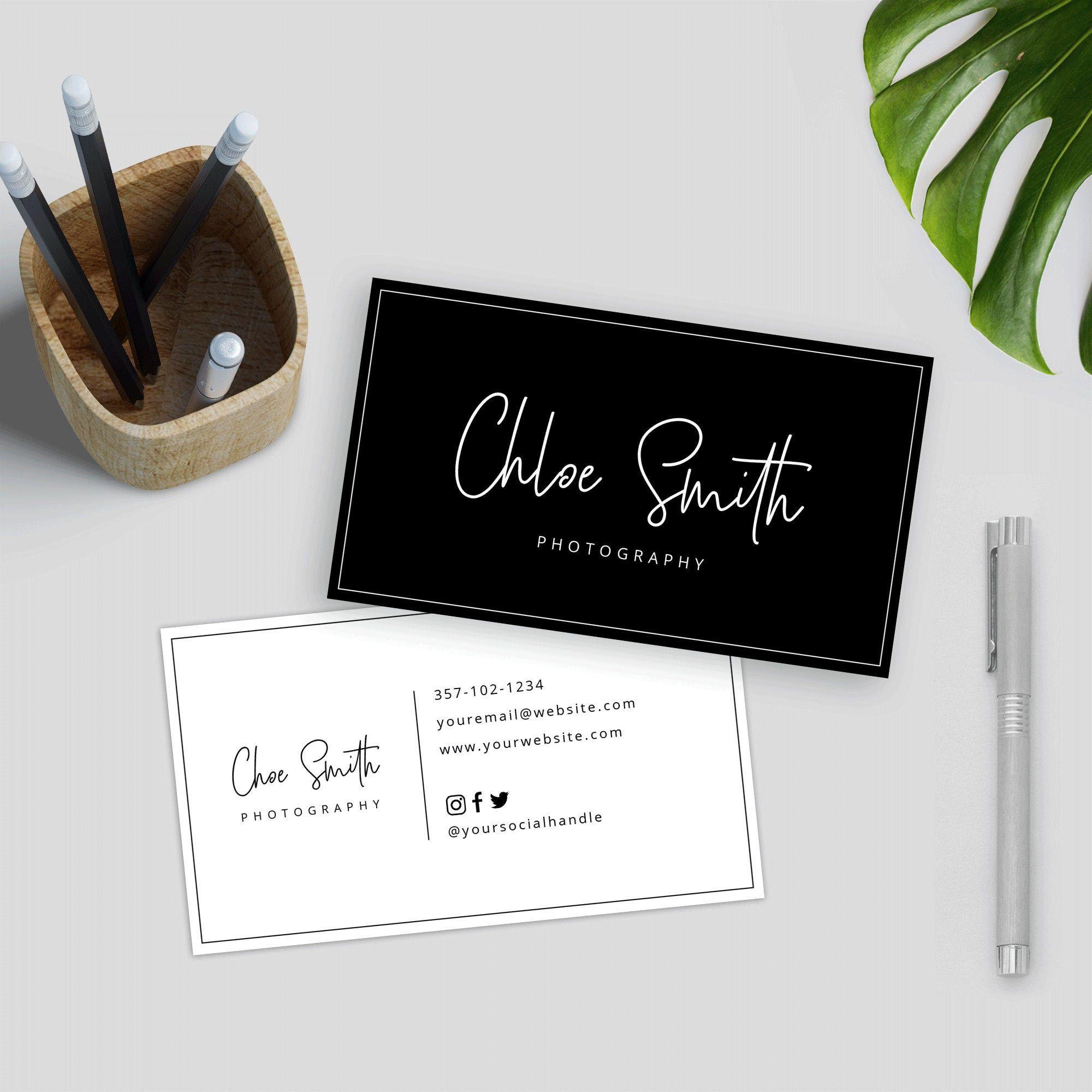 Editable Business Card Template Minimalist Business Card Etsy Hairdresser Business Cards Minimalist Business Cards Salon Business Cards