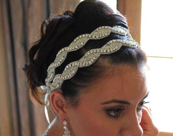 Crystal Bridal Double Headband 8681dcfefa0