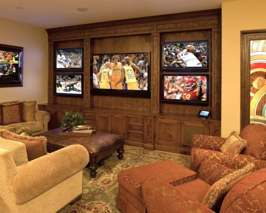 70 Inch Tv Design Pictures Remodel Decor And Ideas Media Room