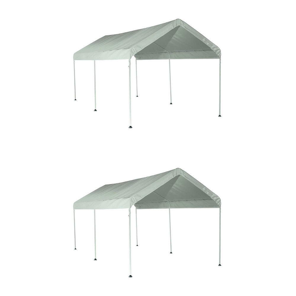 White Outdoor Pop Up Canopy 10 X 20 Shelterlogic Maxap Carport Canopy Awnings Canopies
