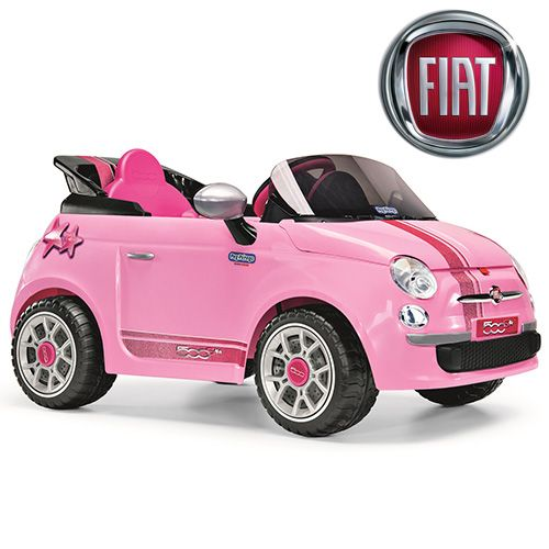 Licensed Fiat Girls Pink Ride On Car Kids Electric Ride