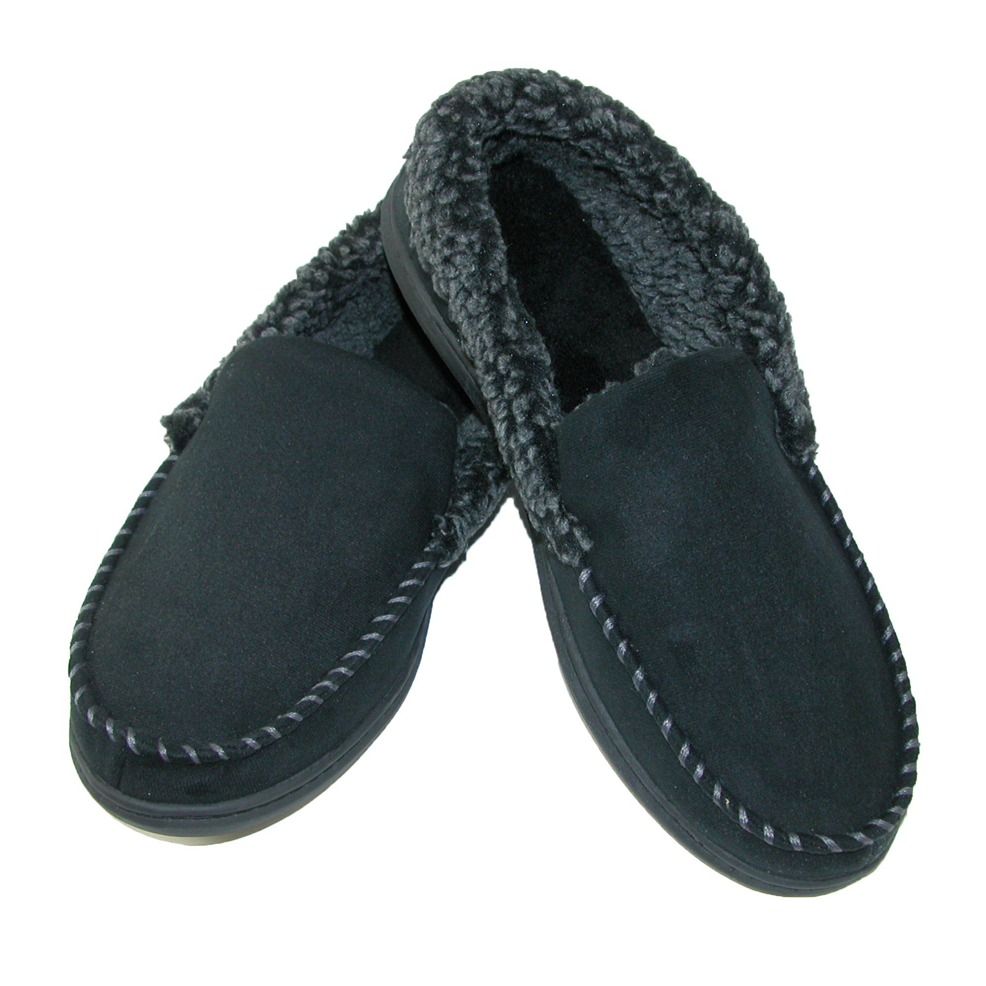 5b62ed757 Dearfoams Men's Microsuede Moccasin Slippers with Memory Foam