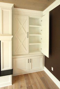 Barn Door Built In Living Room Built Ins Built Ins Bookshelves Built In
