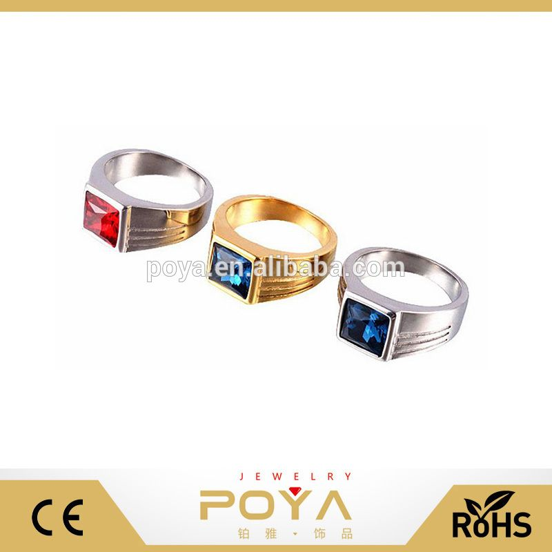 1aa1362b7885a POYA Jewelry Wholesale New Single Stone Ring Designs Blue/Red Stone ...