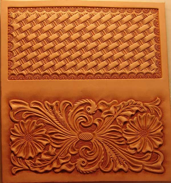Roper wallet transfer sheet leather tooling pinterest for Leather sheets for crafting