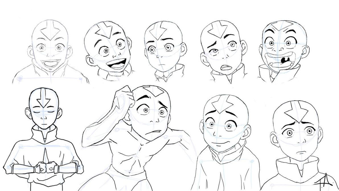 Avatar Aang Expression Study Avatar Characters Avatar The Last Airbender Art Avatar Aang