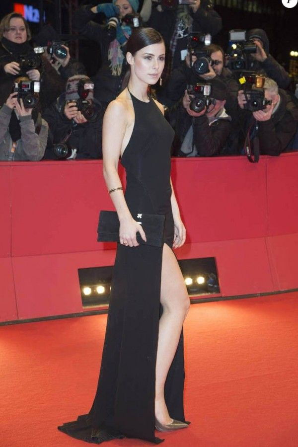 abcdafc5fdd4 Lena Meyer Landrut Black Dress At Berlinale Film Festival 2016 Red Carpet