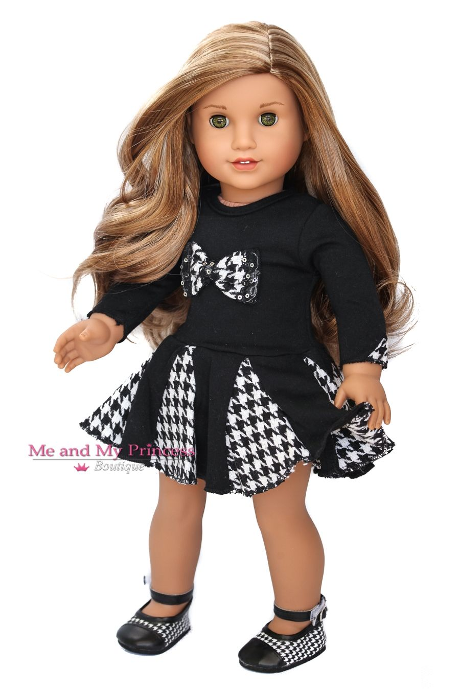 Houndstooth Bow Dress and matching houndstooth Shoes Outfit Clothes ...