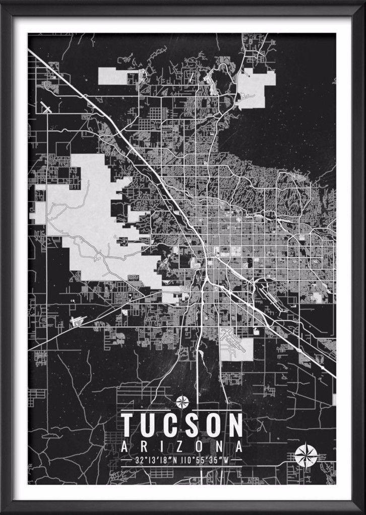 Tucson Arizona Map with Coordinates Tucson Arizona