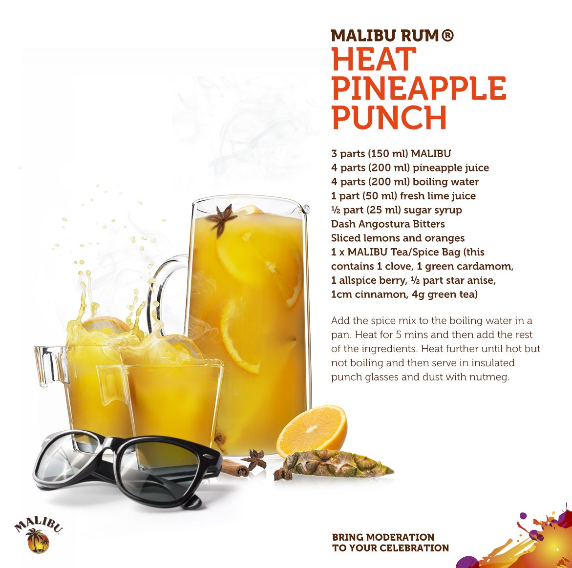 The Malibu Rum Heat Pineapple Punch. For When The Sun Goes