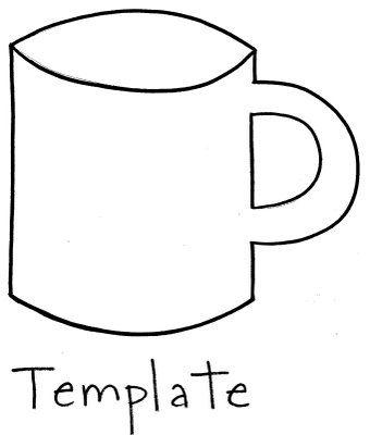 hot chocolate mug template winter crafts for kids mug template teacher appreciation gifts pinterest