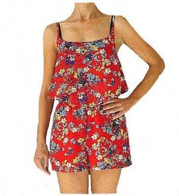 New Look Czerwony Kombinezon W Kwiatki 36 6521735760 Oficjalne Archiwum Allegro Fashion Rompers Dresses