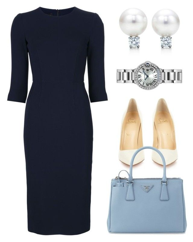 """""""Untitled #1998"""" by claireyim ❤ liked on Polyvore featuring Narciso Rodriguez, Christian Louboutin, Prada, Tiffany & Co. and Cartier"""