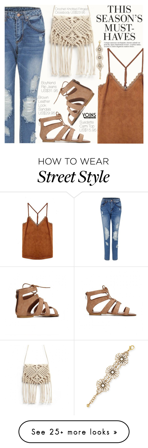 """Yoins 38:Street Style"" by pokadoll on Polyvore featuring H&M, Lulu Frost, Anja and yoins"