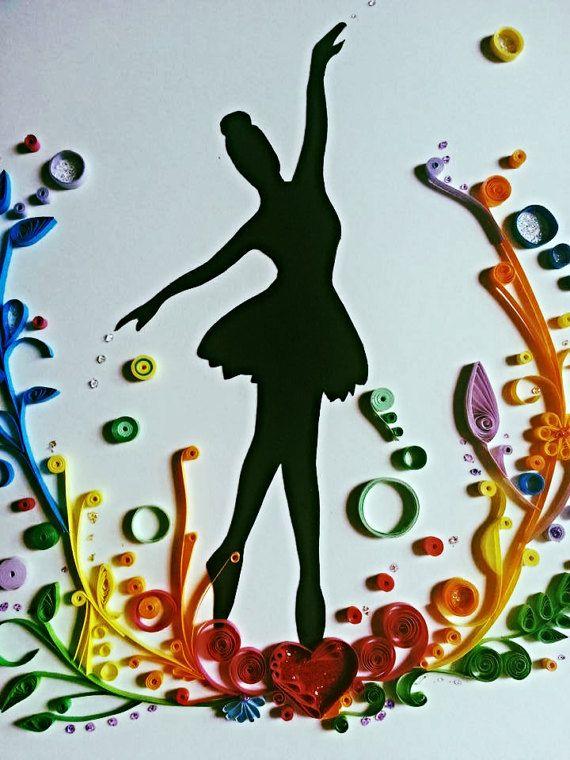 квиллинг открытки гимнастика балерины