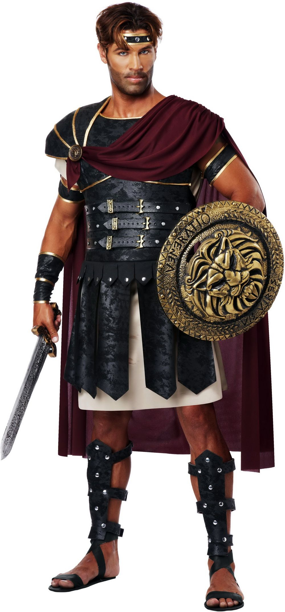 Brand New Roman Gladiator Spartan Soldier Greek Warrior Hercules Adult Costume