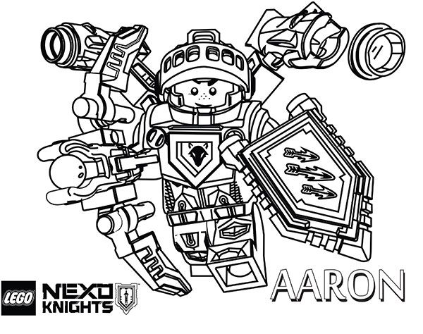 - Aaron-lego-nexo-knights-coloring-page Lego Coloring Pages, Lego Coloring,  Avengers Coloring Pages