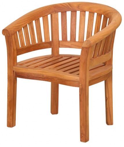 fauteuil demi lune en teck huile
