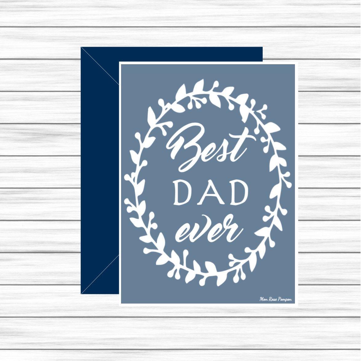 Birthday Dad Card Dad Card Printable Dad Gift Idea Printable Card