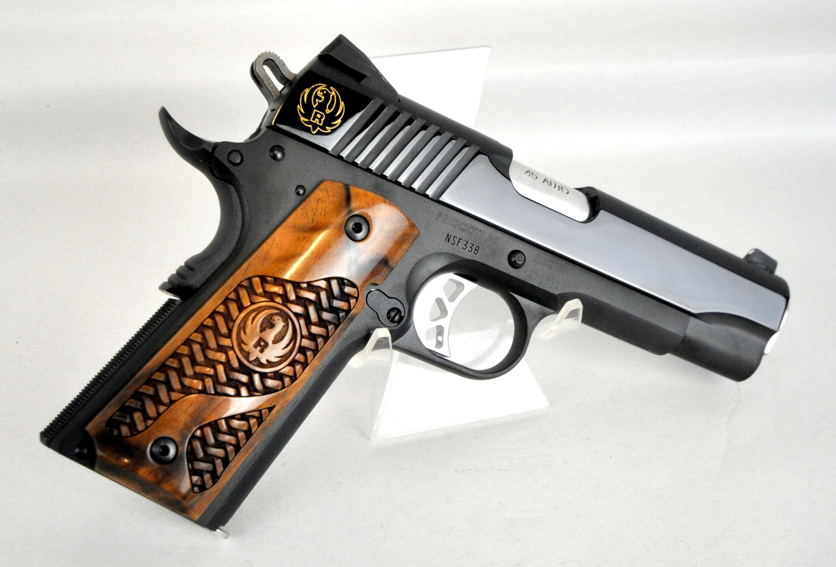 The new Ruger SR1911 Commander with French Walnut Grips  I want this
