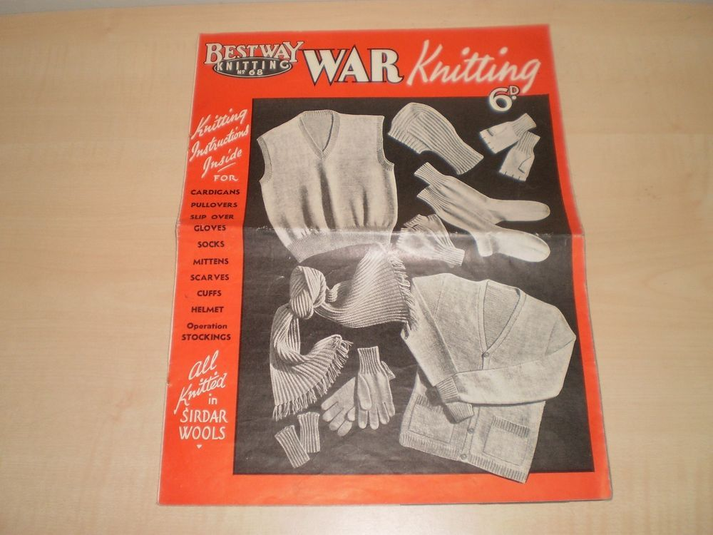 1940s Wartime Bestway War Knitting Pattern Book Sirdar Wools ...