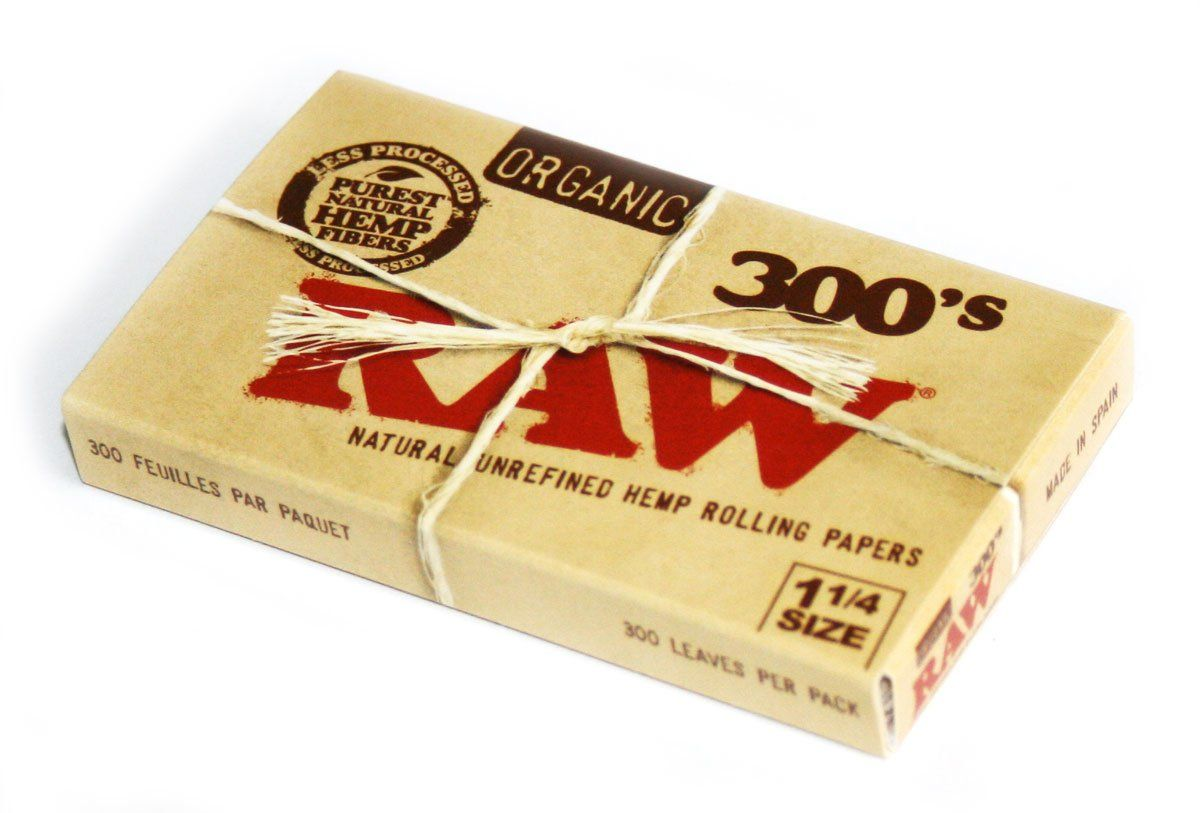 Raw Natural Unrefined And Organic Rolling Paper Size 1 1 4 300 Papers Rolling Paper Unrefined Raw Organic