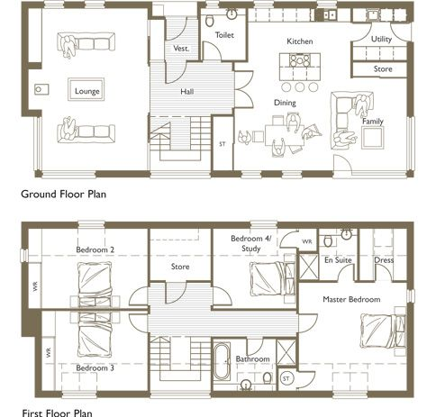 I Would Switch The Master With The Loungemaybe One Day I Will New 5 Bedroom Floor Plan Designs Design Decoration
