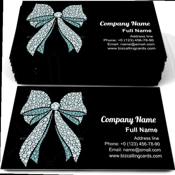 Diamond Bow Business Card Template Business Card Template Card Template Diamond Bows