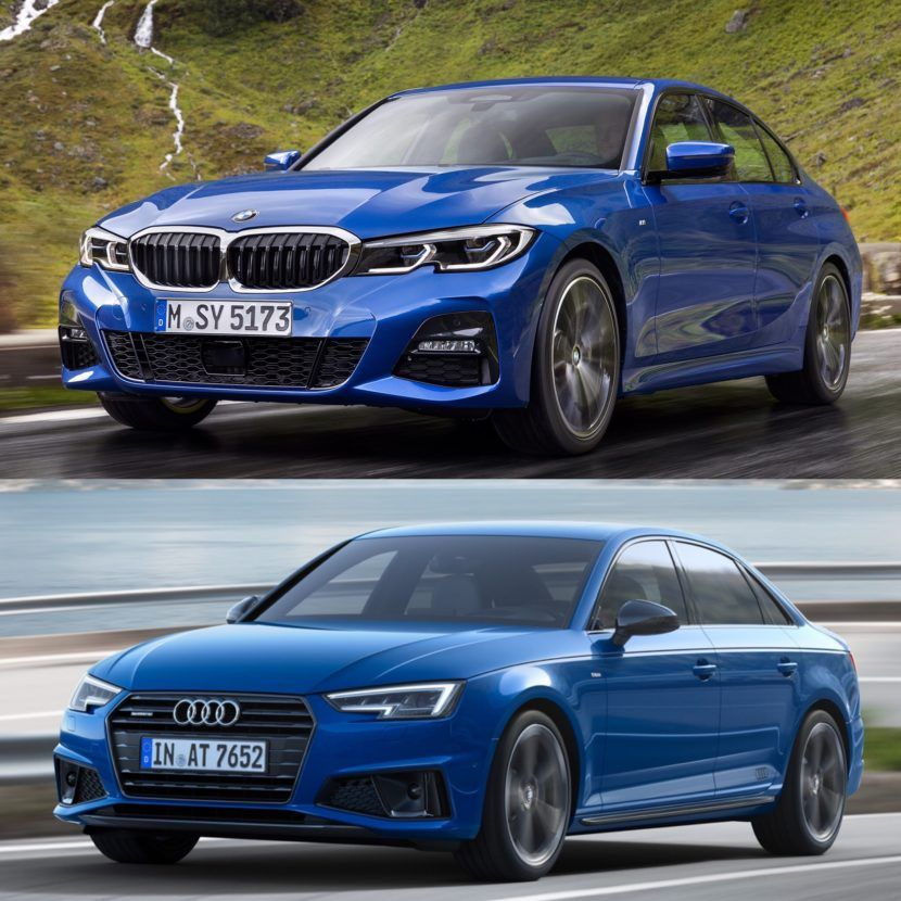 Photo Comparison G20 Bmw 3 Series Vs Facelifted Audi A4 Bmw Bmw 3 Series Audi A4