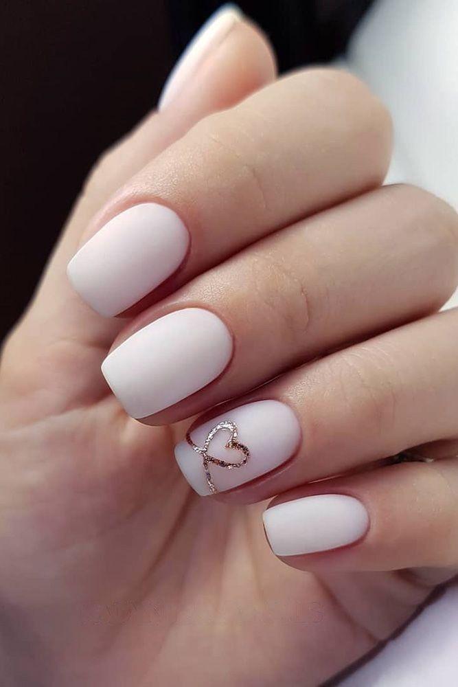 70 Simple Nail Design Ideas That Are Actually Easy Wedding Nail Art Design Bride Nails Bridal Nails