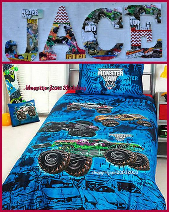 Admirable Monster Jam Inspired Personalized Customized By Home Interior And Landscaping Ologienasavecom