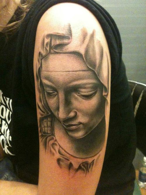 Virgin Mary Tattoo by Sarah Miller #tattoo #tattoos #Ink #VirginMary #SarahMiller http://tattoopics.org/virgin-mary-tattoo-by-sarah-miller/