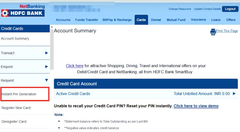Generate HDFC Credit Card Pin #generate #hdfc #credit #card #pin
