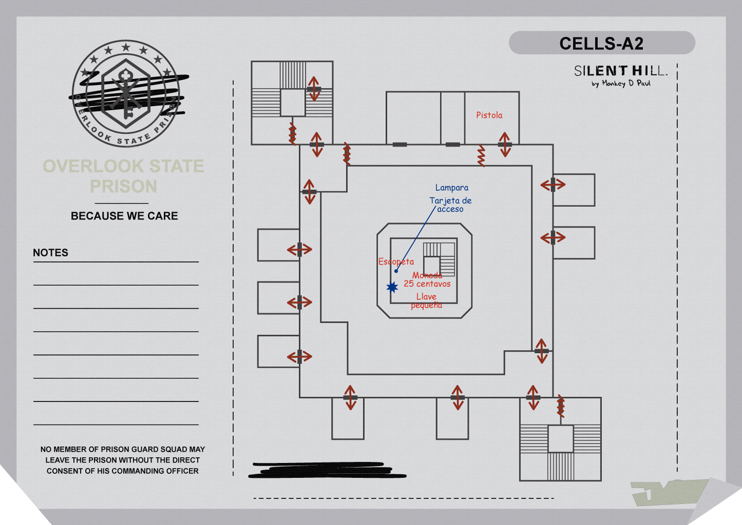 Overlook Penitentiary Cells A2 (Mapa Silent Hill Downpour)