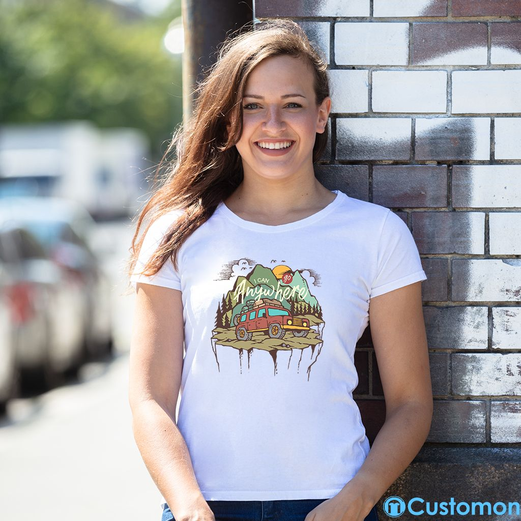 66866fa5 I Can Go Anywhere Women's T-shirt 🏕 - #camping #clouds #trending #women  #birds #kansas #montana #mountains #natural #landscape #travel #adventure  #campaign ...