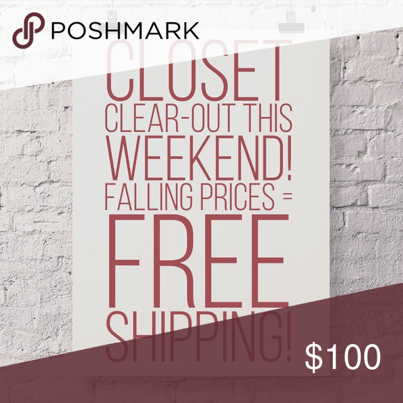 Closet clear-out! Watch for price cuts! Posh is running a Closet Clear-Out promo this weekend! On any item where the price is cut 10% or more and the selling price is >$10, shipping will be discounted or free for the hour after the price cut. Watch for falling prices and grab the items you've had your eye on! Does not apply to make an offer transactions. Coach Bags Totes
