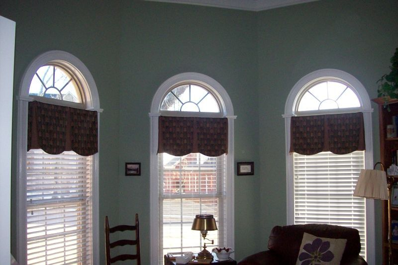 Big Arched Window With Classy Curtain Valances Arched