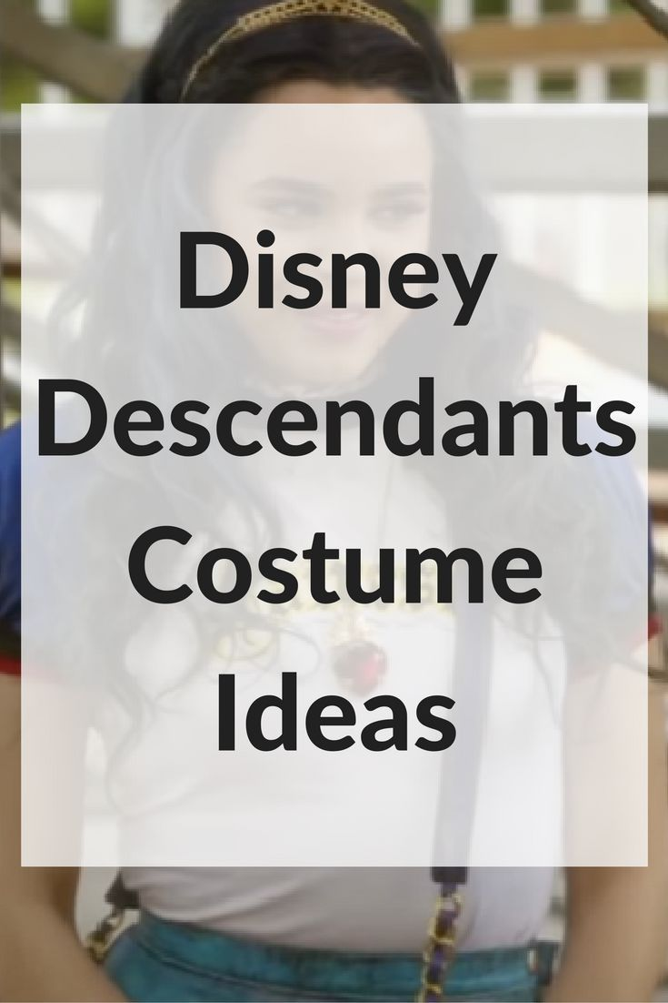 Disney Descendants Halloween Costumes. These costume ideas are a great idea for Halloween. Perfect for any child that loves the film Disney Descendents.: