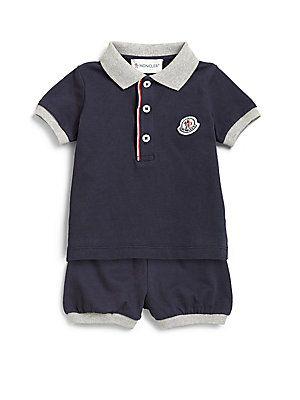 30952739c767 Moncler Infant s Two-Piece Polo Shirt   Shorts Set