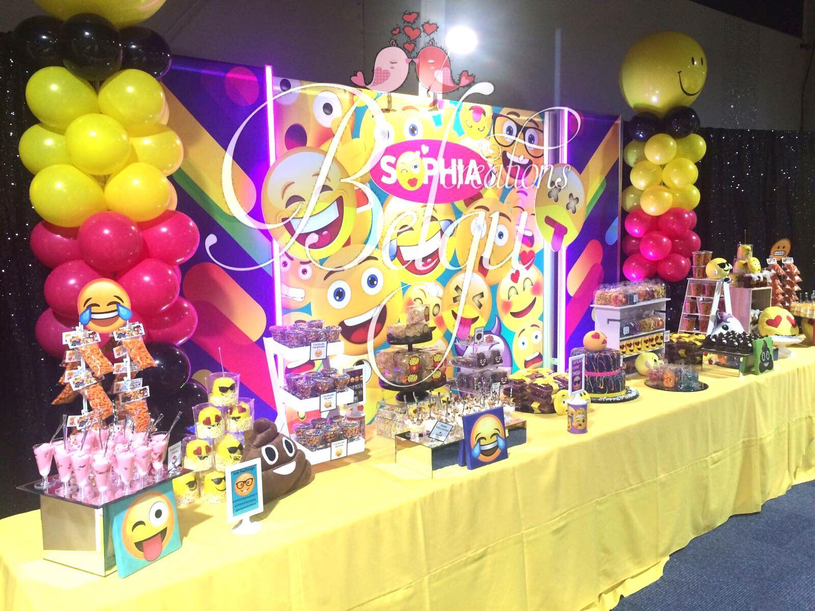 Emojis Dessert Table Emoji Theme Party Emoji Birthday Party Emoji Party
