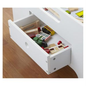 Exceptionnel White Train Table With Trundle Drawers