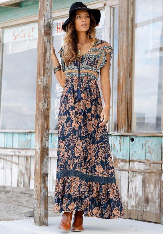 Spiksplinternieuw Maxi-jurk in 2020 | Jurken, Maxi-jurken, Mode BF-04