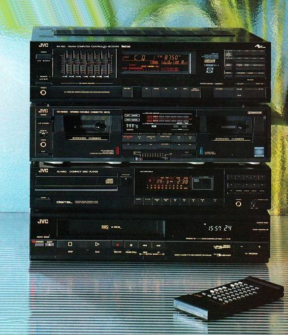 audio video jvc hi fi 1988 vintage. Black Bedroom Furniture Sets. Home Design Ideas