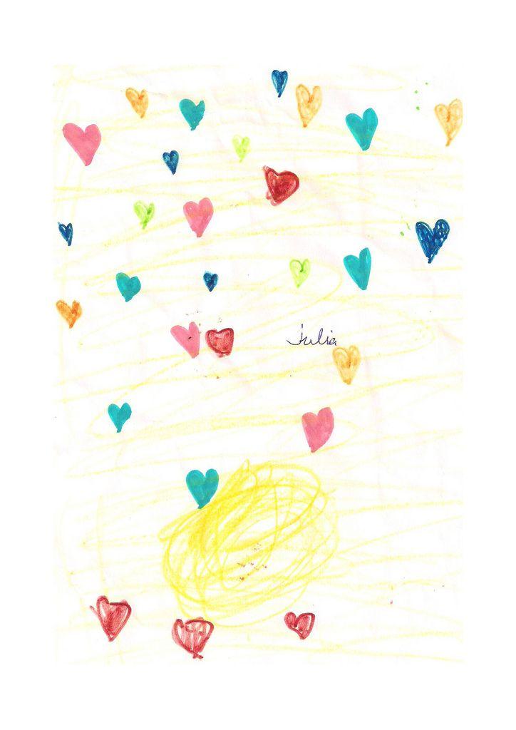 Nos habéis enternecido con tantos corazones con esos  preciosos colores, Os mandamos abracinos y besinos.Muchas gracias a las dos.
