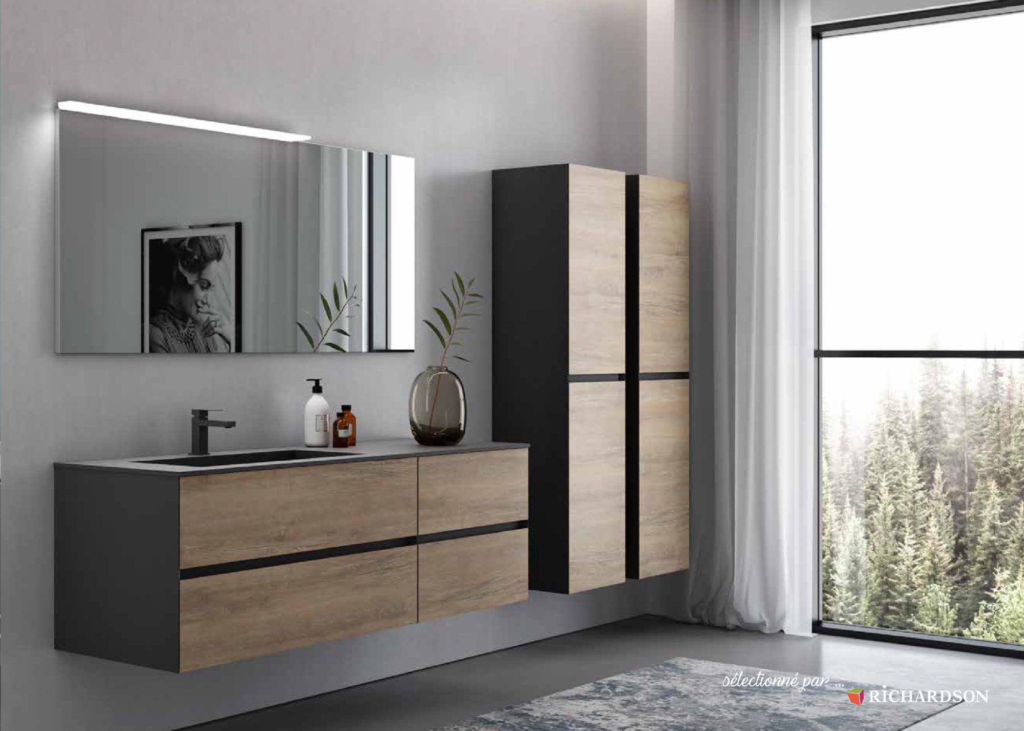 Meuble Salle De Bains Avec Facade En Bois Bathroom Style Stylish Bathroom Wooden Facade