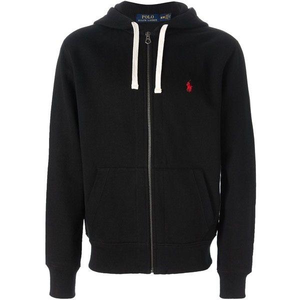 black polo hoodie mens
