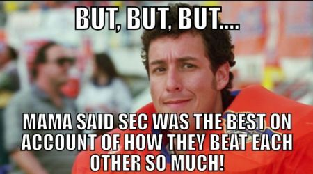 Exposure Of The Overrated 2014 Sec And Our Week 11 Top 10 Poll Update Funny Football Memes Nfl Memes Funny Football Memes