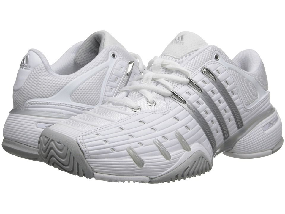 Womens Shoes adidas Barricade V Classic Core White/Clear Onix/Silver Metallic