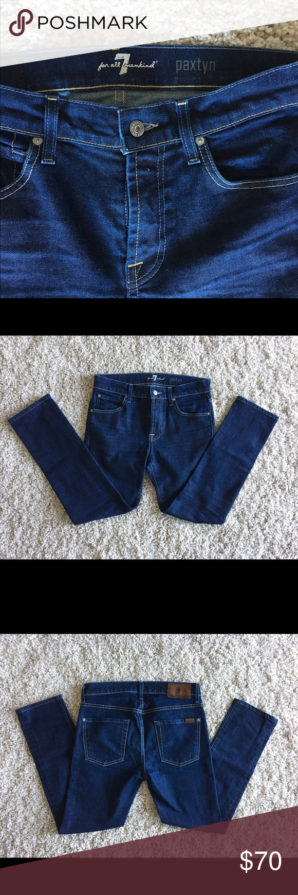 7 For All Mankind Paxton Jeans 7 For All Mankind Paxtyn Jeans. Classic jeans design with 5 pockets system. Comfort both inside and out along with great fabric recovery. 7 For All Mankind Jeans