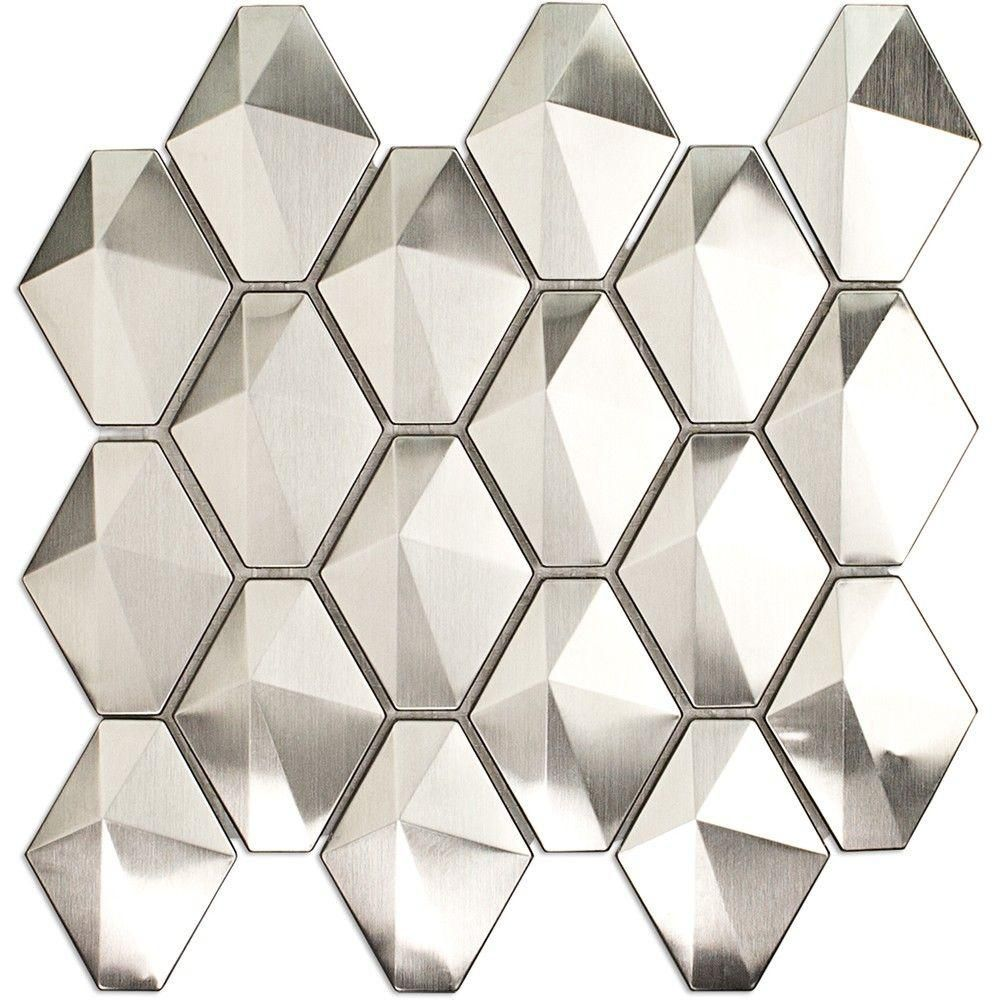 Ivy Hill Tile Corrie Sierra Polished Stainless Metal Tile